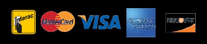 interac, mastercard, visa, american express, discover,