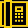 Icone téléphone, logo téléphone,